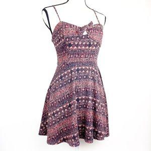 Forever 21 Mauve Print Mini Dress Size S